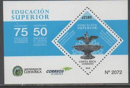 COSTA RICA, 2018, MNH, HIGHER EDUCATION, FACULTY OF SCIENCES, ECONOMIC SCIENCES,  S/SHEET - Timbres