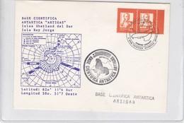 FIRST FLIGHT. BASE CIENTIFICA ANTARTICA ARTIGAS. 1990. AVEC BORD DU PLAQUE. URUGUAY-BLEUP BORDE DE HOJA - Postzegels