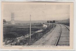 CANTON-FAT SHAN RAILWAY PASSING SAM SUI PAGODA - China