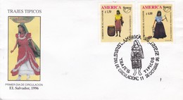 FDC. TRAJES TIPICOS. EL SALVADOR 1996.-BLEUP - El Salvador