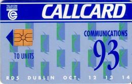 TARJETA TELEFONICA DE IRLANDA, COMMUNICATIONS 93. 1048 (058) - Irlanda