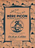 RARE - Protège-Cahier Publicitaire MERE PICON -  - 2 Scan - Alimentaire