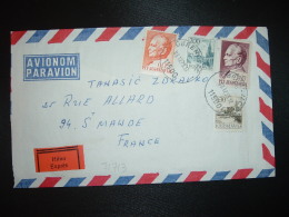 LETTRE EXPRES Par Avion Pour La FRANCE TP 5,00 + TP 2,00 + TP 0,30 + TP 0,05 OBL.03.12.73 OBRENOVAC - 1945-1992 Socialist Federal Republic Of Yugoslavia