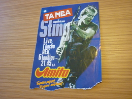 Sting Ticket D'entree Music Concert In Athens Greece 1993 Ten Summoner's Tales Tour - Concert Tickets