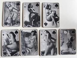 7 Cartes à Jouer érotique Vintage Femmes Nues Sexy Années 60-70 Citation Français Anglais - Kartenspiele (traditionell)