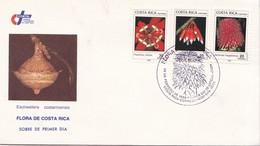 FDC. FLORA DE COSTA RICA. ESCHWEILERA COSTARRICENSIS. SAN JOSE 1989.-BLEUP - Costa Rica