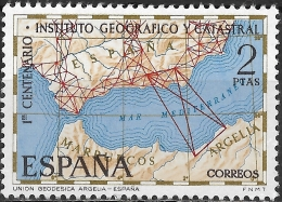 SPAIN 1970 Centenary Of Spanish Geographical And Survey Institute - 2p Survey Map Of Southern Spain And North Africa MNH - 1961-70 Nuevos & Fijasellos