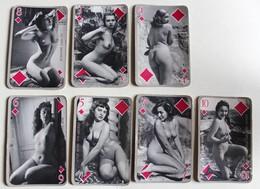 7 Cartes à Jouer érotique Vintage Femmes Nues Sexy Années 60-70 Citation Français Anglais - Playing Cards (classic)