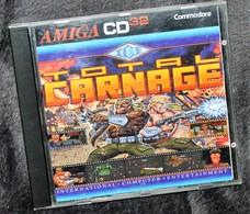 Très Rare Console Jeux Amiga CD32 Commodore Total Carnage - Consoles