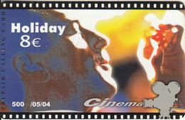 GREECE - Cinema/Bruce Willis, Amimex Prepaid Card 8 Euro, Tirage 500, 05/04, Used - Cinema