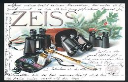 AK/CP Reklame  Carl Zeiss Jena  Fernglas  Opernglas   Gel/circ. 1922  Erhaltung/Condit.  1- / 2  Nr. 00428 - Publicité