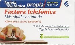 ETECSA Propia- Local And NationaL Phone Card Recharge 10.00 CUP - Cuba - Cuba