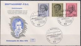 BRD FDC 1970 Nr.616-618 200.Geb.Ludwig Van Beethoven ( D 379 ) Günstige Versandkosten - FDC: Enveloppes