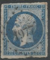 Lot N°42918  N°14A, Oblit PC 1977 Metz, Moselle (55), Bonnes Marges - 1853-1860 Napoléon III