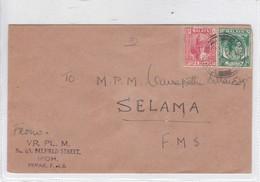 SOBRE ENVELOPE. CIRCULEE PERAK FROM SELAMA 1950. MALAYA.-BLEUP - Malayan Postal Union