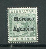 MAROC ANGLAIS- Tous Bureaux- Y&T N°1 (B)- Neuf Avec Charnière * - Morocco Agencies / Tangier (...-1958)