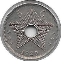 *belgian Congo 5 Centimes  1920  Km 17 Xf!!!!! * - Congo (Belgian) & Ruanda-Urundi