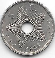 *belgian Congo 5 Centimes  1921  Km 17 Xf!+!!!! - Congo (Belgian) & Ruanda-Urundi