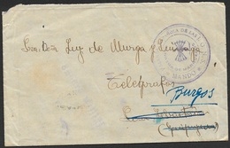 1937 Guerra Civil - Bando Nacionalista - Falange  - Mando En Marruecos - Rara! - 1931-50 Cartas