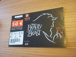 Disney Beauty And The Beast Musical Ticket D'entree Music Concert In Athens Greece Badminton Stadium - Concert Tickets