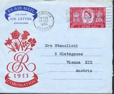 Grossbritannien -    Aerogramm,  1953 - 1952-.... (Elizabeth II)