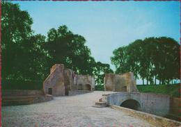 Hulst Grote Kaart Ruine Dobbele Dubbele Poort Zeeland Zeldzaam (In Zeer Goede Staat) - Hulst