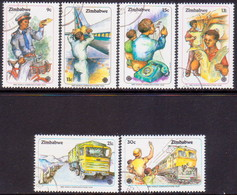 ZIMBABWE 1983 SG #630-35 Compl.set Used World Communications Year - Zimbabwe (1980-...)