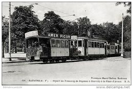 D64 - BAYONNE < DEPART DU TRAMWAY DE BAYONNE A BIARRITZ, PLACE D'ARMES - Bayonne