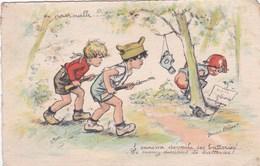 Cpa EN PATROUILLE  Carte Vierge - Bouret, Germaine