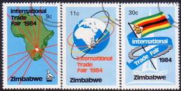 ZIMBABWE 1984 SG #636-38 Compl.set Used Int.Trade Fair - Zimbabwe (1980-...)