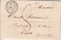 18925# ARDENNES AMELIORE LA DATE DU CATALOGUE DE 28 MOIS LETTRE Obl SIGNY L' ABBAYE 1846 T15 Pour ANGERS MAINE ET LOIRE - Marcophilie (Lettres)