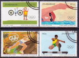 ZIMBABWE 1984 SG #639-42 Compl.set Used Olympic Games, Los Angeles - Zimbabwe (1980-...)
