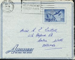 Kanada  Aerogramm   Luftpost  1960 - Briefe U. Dokumente