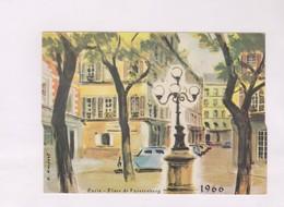 PETIT CALENDRIER 1966,PARIS PLACE DE FURSTENBERG - Calendars