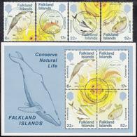 FALKLAND ISLANDS  Michel  415/18,BLOCK 4  Very Fine Used - Falkland Islands