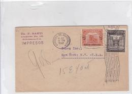 DR F SARTI, CIRCULEE GUATEMALA TO USA 1942. BANDELETA PARLANTE. AUTRES MARQUES. SOBRE EXAMINADO.-BLEUP - Guatemala