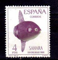 1966 Spanish Sahara -Day Of Stamps  Moon Fish  MNH** - Mi  286 (t34) - Sahara Español