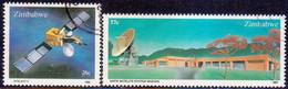 ZIMBABWE 1985 SG #657-58 Compl.set Used Earth Satellite Station - Zimbabwe (1980-...)
