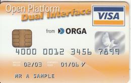 FRANCE - Visa, ORGA Sample Card, Void - Geldkarten (Ablauf Min. 10 Jahre)