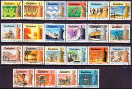ZIMBABWE 1985-88 SG #659-80 Compl.set Used National Infrastructure - Zimbabwe (1980-...)