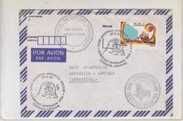 BASE CIENTIFICA ANTARTICA ARTIGAS. 1990. AIRMAIL. AVEC AUTRES MARQUES. FULL CONTENT INSIDE. URUGUAY.-BLEUP - Postzegels