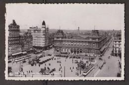 Rogier Square & Railway Station , Brussels, Belgium - Real Photo - Used 1937 - Belgium