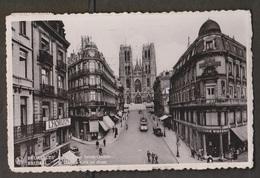 St Cudula Church & Street, Brussels, Belgium - Real Photo - Used 1937 - Belgium