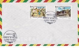 AIRMAIL. SPC AMERICA STAMP, CORREOS DE BOLIVIA 1989. TBE-BLEUP - Bolivia