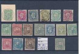 BELGIAN CONGO BOX1 1886/87 ISSUES   USED SELECTION - 1884-1894 Précurseurs & Leopold II