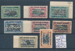 BELGIAN CONGO GEA RUANDA URUNDI BOX1 1916 ISSUE COB 28/35 MNH - 1916-22: Nuovi