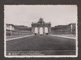 Memorial Arch & Jubelpark Museum , Brussels, Belgium - Real Photo - Used 1937 - Belgium