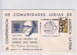 V CONVERENCIA COMUNIDADES JUDIAS DE AMERICA LATINA. 1969. URUGUAY. TBE.-BLEUP - Uruguay