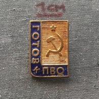 Badge (Pin) ZN006747 - Airplane (Avion / Flugzeug) Military (Army) Air-Defense Soviet Union (USSR SSSR CCCP) 1958 - Militaria