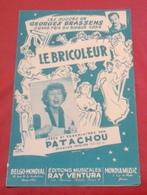"""Partition """"Le Bricoleur"""" Patachou Georges Brassens Grand Prix Du Disque 1954 - Partituras"""